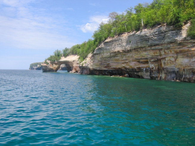 Pictured Rocks on our honeymoon